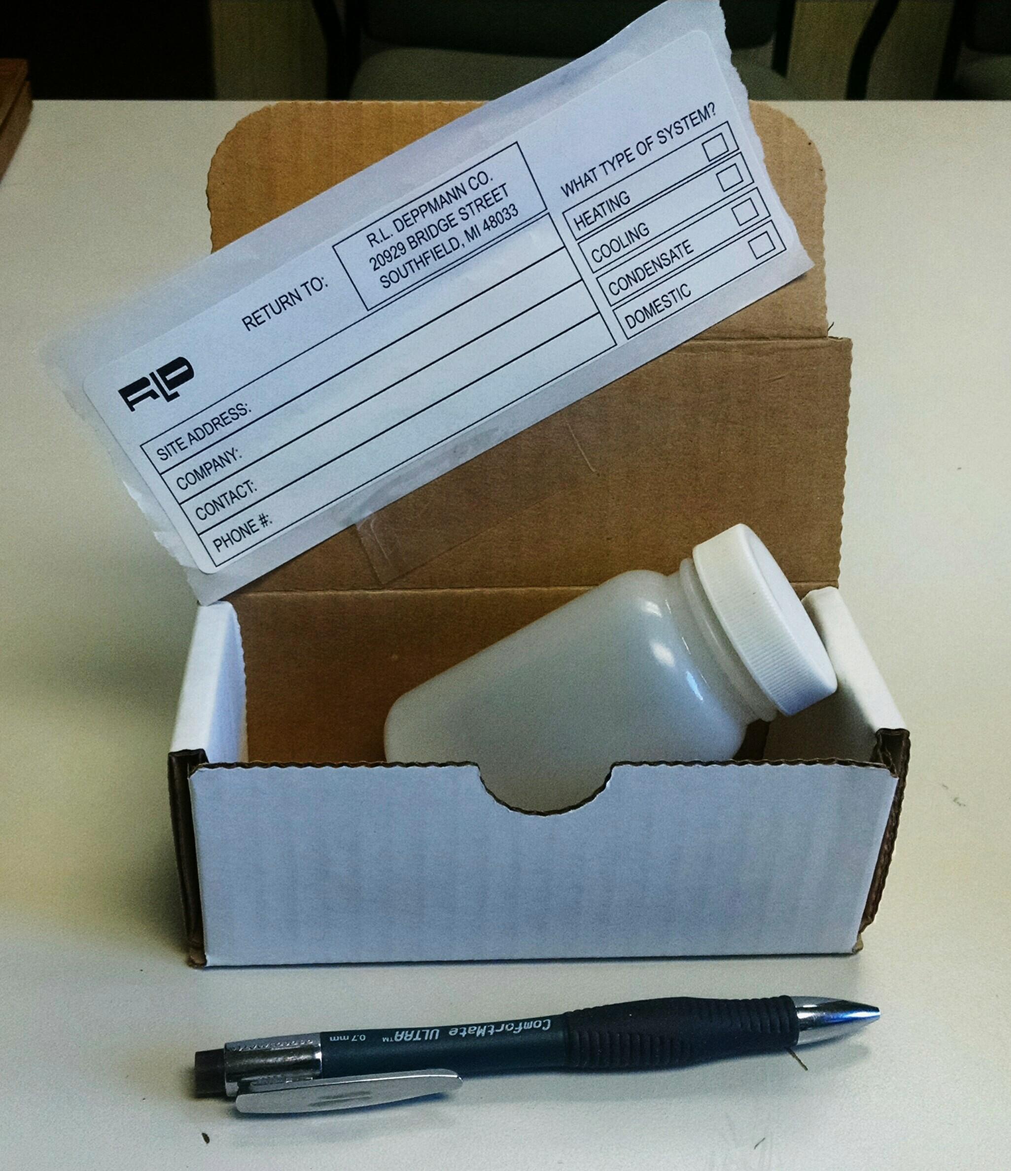 R.L. Deppmann Water Test Sample Kit