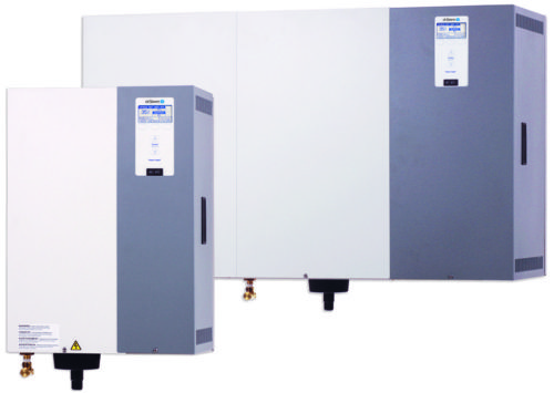 Electric steam-to-steam isothermal humidifiers