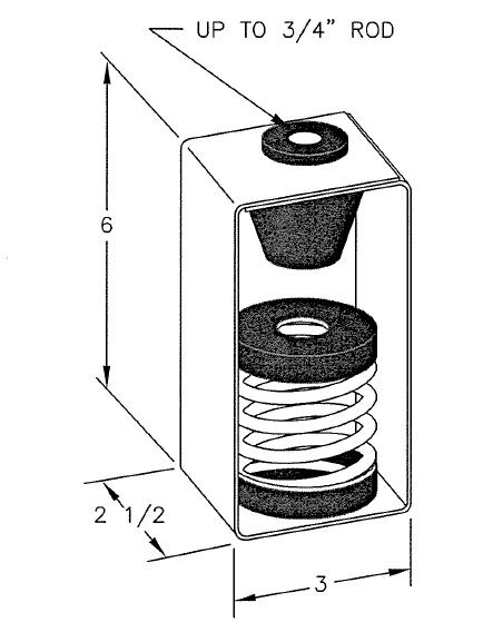 inertia base spring hanger