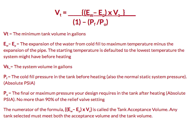 Thermal Expansion Tank Sizing: Bell & Gossett Systemwize