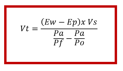 the formula for the calculation that the expansion tank programs use to determine the tank size