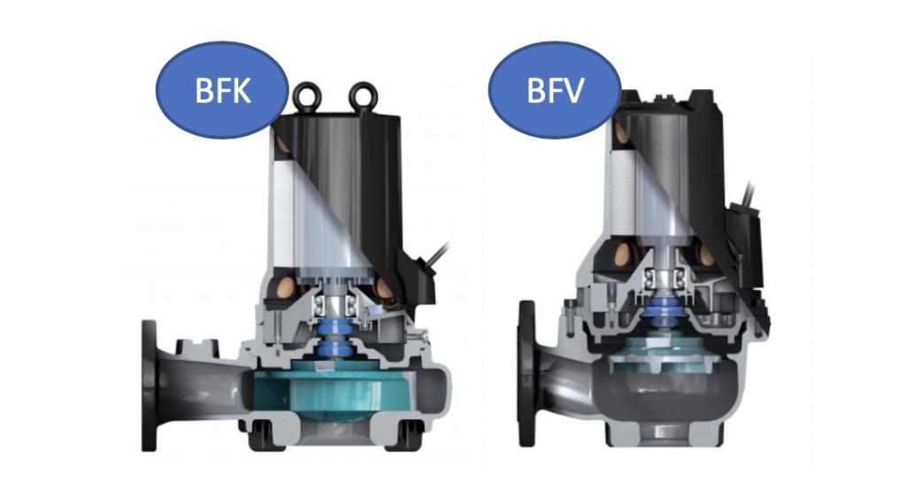 Bell & Gossett sewage wastewater pump BFK and BFV