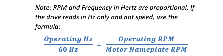 RPM and Frequency Hertz