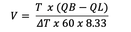 formula used for systems using water