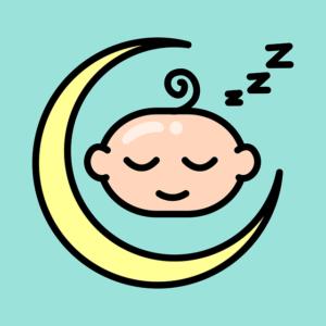 sleeping baby moon