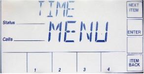 Time Menu Screen