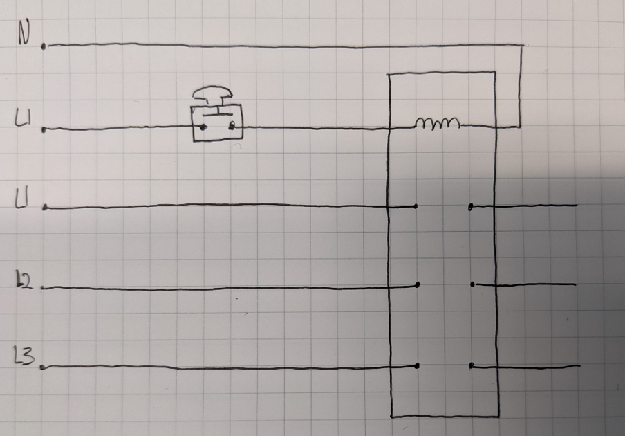 Sketch of one way to achieve the power shutdown.